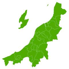 新潟 地図 緑 アイコン