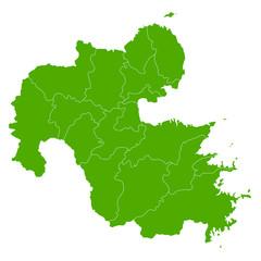 大分 地図 緑 アイコン