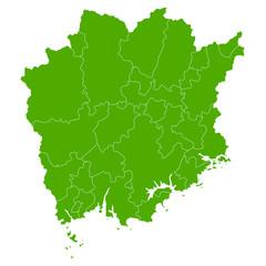 岡山 地図 緑 アイコン