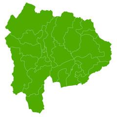 山梨 地図 緑 アイコン