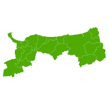 鳥取 地図 緑 アイコン