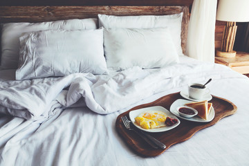 Breakfast in bed Wall mural