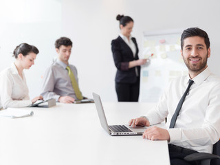 portrait of young modern arab business man  at office