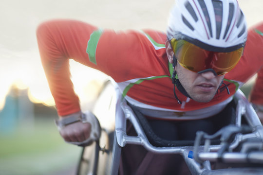 Close up of athlete in para-athletic competition