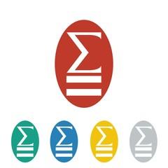 mathematics logo icon Vector