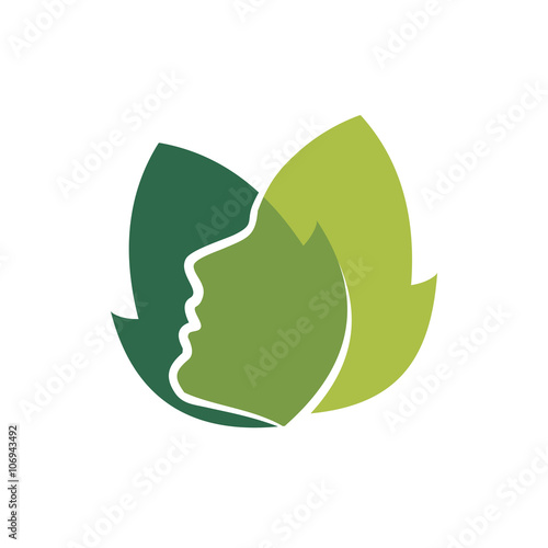 quotnatural face beauty care woman logo iconquot stock image and