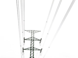 electricity tower  and    power transmission line