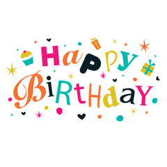 Happy Birthday Card with colorful design