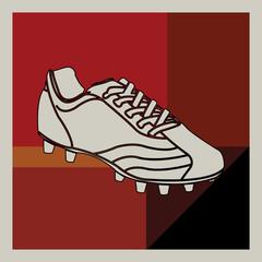 Art déco, chaussure de football