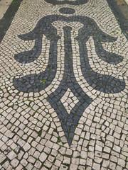 Square Cobblestone pavement with pattern