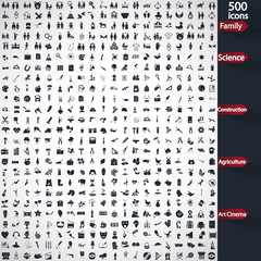Set of five hundred universal icons