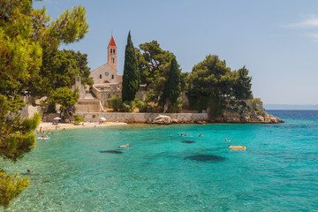 Dominical convent near the beach in the town of Bol on Brac isla