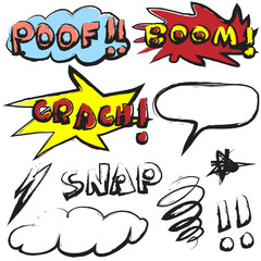 doodle comic sound effects
