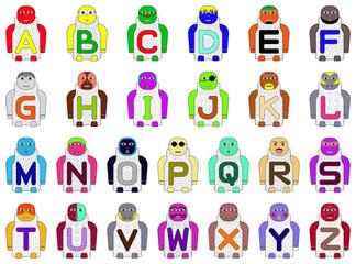 ALPHABETICAL STANDING CHILDREN'S NAMES A-Z (26 CHILDREN'S NAMES)