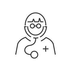 line icon Avatar Doctor Icon design eps10.