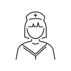 line icon nurse icon design vector