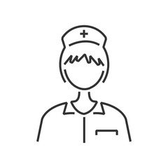 line icon nurse avatar, icon