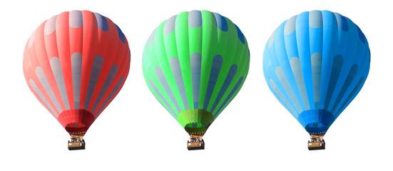 Poster Montgolfière / Dirigeable hot air balloons set