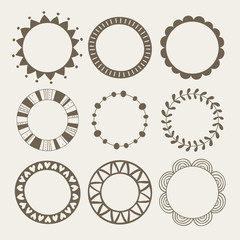 Vector set of nine different frames.