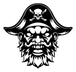 Cartoon Pirate Mascot
