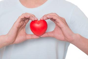 Heart, hand, love.