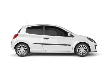Samll car mock up on white background, 3D illustration