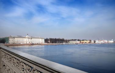 landscape of St. Petersburg from  bridge