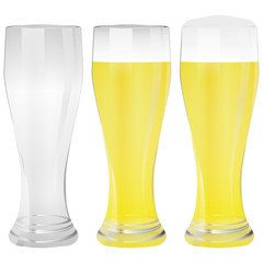 Illustration Vector Graphic Glass Wheat Beer