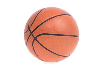 Old basketball basket ball isolate