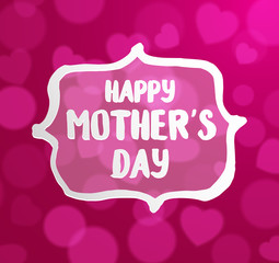 Happy Mothers's Day typographical on pink bokeh background