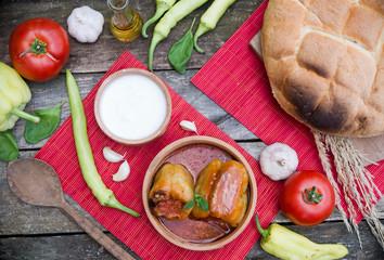 Fotobehang Picknick Stuffed peppers