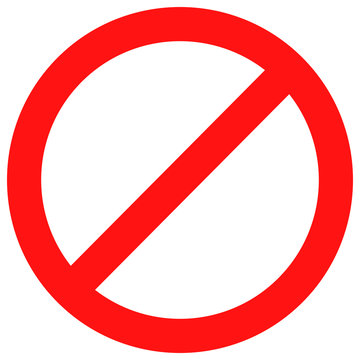 Ban sign red