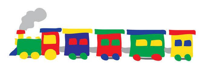 train drawing vector