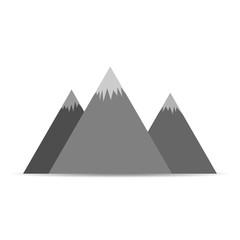 Mountains icon - vector illustration.