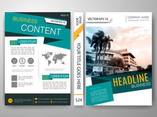 Vector brochure,magazine,modern flyers,cover,report,design templates,layout,green label,white background in a4 size,To adapt for business poste,portfolio,website,presentation,illustration