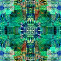 abstract geometrical radial backgroun rainbow