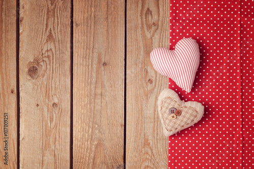 Mother's day background with heart shapes