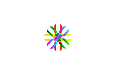 Vector abstract shapes. Colorful design template. Ribbon shapes. Dynamic style logo