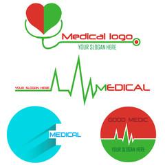 set of medical logos. vector illustration