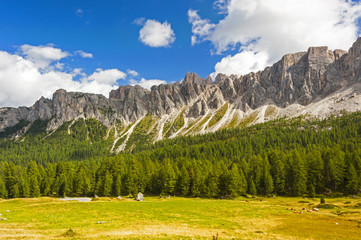 Along the Great Dolomite Road in Italy
