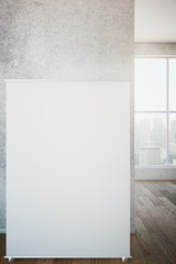 Whiteboard leaning on wall