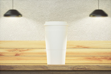 Coffee cup front