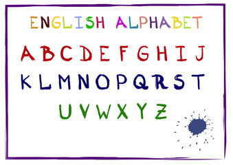 Hand drawn vector alphabet, Eps10 vector font for your design