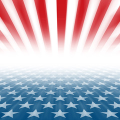 Stars and Stripes perspective background