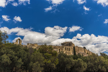 View of  Athens Acropolis