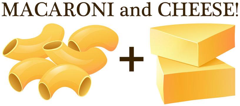 Raw macaroni and cheese