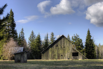 Old barn and shed.
