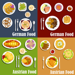 Austrian and german cuisine dishes