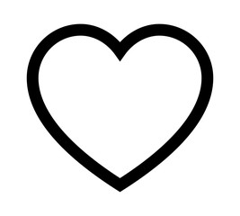 Perfect heart / romantic heart of love line art icon for dating apps and websites