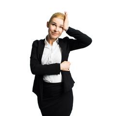 junge gestresste Geschäftsfrau